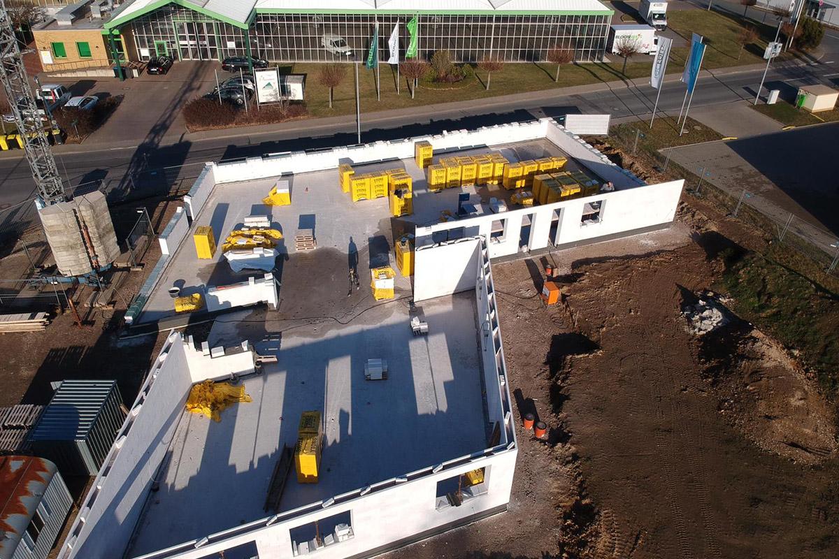 Drohnenfotos unserer Baustelle
